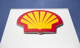 A logo for Shell is seen on a garage forecourt in central London March 6, 2014.   REUTERS/Neil Hall