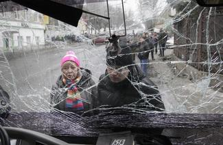Front lines of east Ukraine