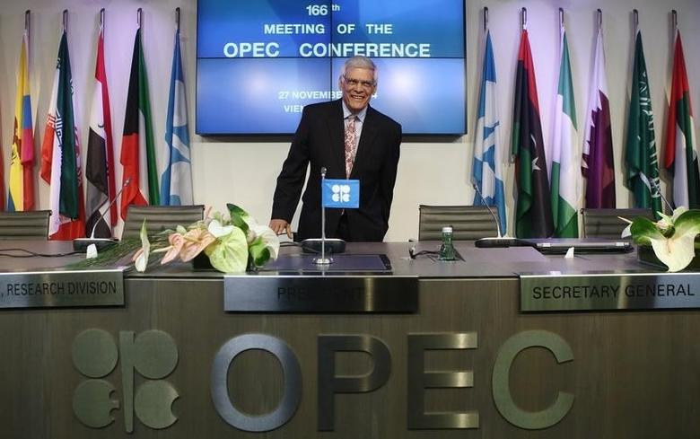 OPEC Secretary-General Abdullah al-Badri arrives for a news conference after a meeting of OPEC oil ministers at OPEC's headquarters in Vienna November 27, 2014.   REUTERS/Heinz-Peter Bader