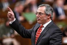 Canada's Treasury Board President Tony Clement speaks during Question Period in the House of Commons on Parliament Hill in Ottawa December 4, 2014. REUTERS/Chris Wattie