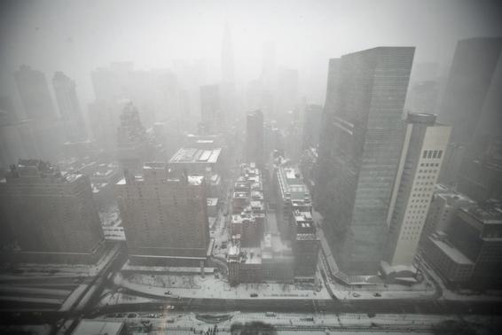 Mid-town Manhattan is pictured from the top of the United Nations building in New York January 26, 2015. REUTERS/Carlo Allegri