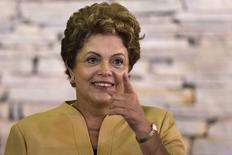 Presidente Dilma Rousseff durante reunião ministerial em Brasília. 27/01/2015 REUTERS/Ueslei Marcelino
