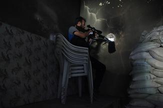 In the shadow of Syria's snipers