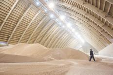 Склад PotashCorp для хранения поташа в Канаде. 10 октября 2013 года. Крупнейший в мире производитель удобрений Potash Corp of Saskatchewan в четверг сообщил о резком увеличении прибыли в предыдущем квартале благодаря росту цен и снижению затрат. REUTERS/David Stobbe
