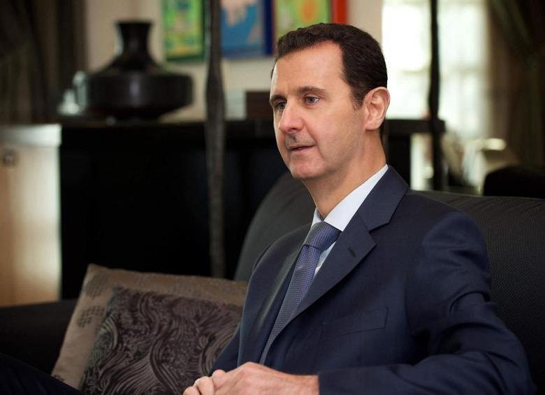 Syria's President Bashar al-Assad is seen during an interview with the American magazine Foreign Affairs published in Damascus January 26, 2015.  REUTERS/SANA/Handout via Reuters