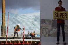 A Madrid. L'économie espagnole a bénéficié au quatrième trimestre 2014 de sa plus forte croissance depuis l'éclatement de la bulle immobilière en 2008, grâce entre autres à la chute des prix de l'énergie. /Photo prise le 30 janvier 2015/REUTERS/Sergio Perez