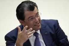Ministro de Minas e Energia, Eduardo Braga, em entrevista à Reuters em Brasília.  21/1/2015 REUTERS/Ueslei Marcelino