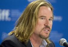 "Cast member Val Kilmer attends a news conference for the film ""Twixt"" at the 36th Toronto International Film Festival in Toronto September 12, 2011.  REUTERS/Fred Thornhill"