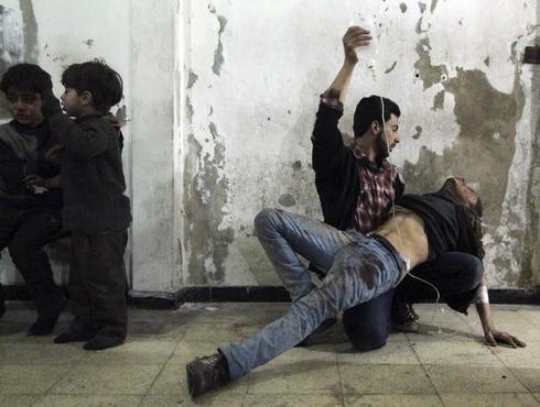 Air strikes in Damascus