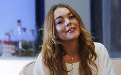 A atriz Lindsay Lohan ensaia no Teatro Playhouse, em Londres, na Inglaterra, no ano passado. 30/09/2014 REUTERS/Suzanne Plunkett