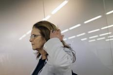 Presidente-executiva da Petrobras, Graça Foster, chega a aeroporto de Brasília após encontro com a presidente Dilma Rousseff 3/02/ 2015. REUTERS/Ueslei Marcelino