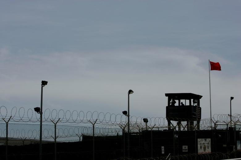 A guard tower at Camp Delta at the Guantanamo Bay Naval Station in 2007.  REUTERS/Joe Skipper
