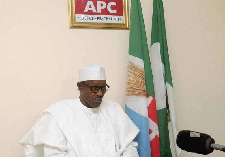 Opposition presidential candidate Muhammdu Buhari, of the All Progressives' Congress (APC), speaks during an interview in Abuja February 6, 2015. REUTERS/Stringer