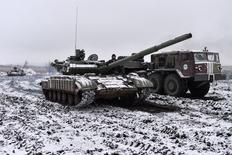 Танк украинской армии близ Дебальцево. 10 февраля 2015 года. REUTERS/Alexei Chernyshev