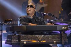 "Recording artist Stevie Wonder performs a medley during the taping of ""Stevie Wonder: Songs In The Key Of Life - An All-Star GRAMMY Salute"" concert at Nokia theatre in Los Angeles, California February 10, 2015.  REUTERS/Mario Anzuoni"