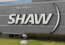 The Shaw Communications sign is seen on their office building in Calgary, Alberta May 3, 2010. REUTERS/Todd Korol