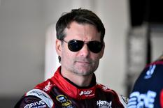Feb 18, 2015; Daytona Beach, FL, USA; NASCAR Sprint Cup Series driver Jeff Gordon (24) during practice for the Daytona 500 at Daytona International Speedway. Mandatory Credit: Jasen Vinlove-USA TODAY Sports