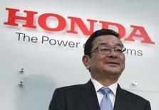 Honda Motor Co's incoming President and Chief Executive Officer Takahiro Hachigo attends a news conference at the company's headquarters in Tokyo February 23, 2015. REUTERS/Yuya Shino