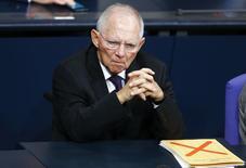 Ministro das Finanças da Alemanha, Wolfgang Schaeuble, durante reunião em Berlim. 18/12/2014   REUTERS/Hannibal Hanschke/Files