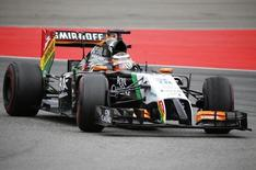 Force India Formula One driver Nico Hulkenberg of Germany drives through a corner during the German F1 Grand Prix at the Hockenheim racing circuit July 20, 2014.           REUTERS/Michael Dalder