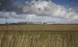 A view of a gas production plant is seen in 't Zand in Groningen February 24, 2015. REUTERS/Michael Kooren
