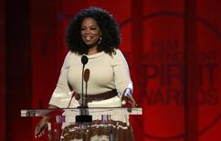 Entertainer and producer Oprah Winfrey  at the 2015 Film Independent Spirit Awards in Santa Monica, California February 21, 2015. REUTERS/Adrees Latif