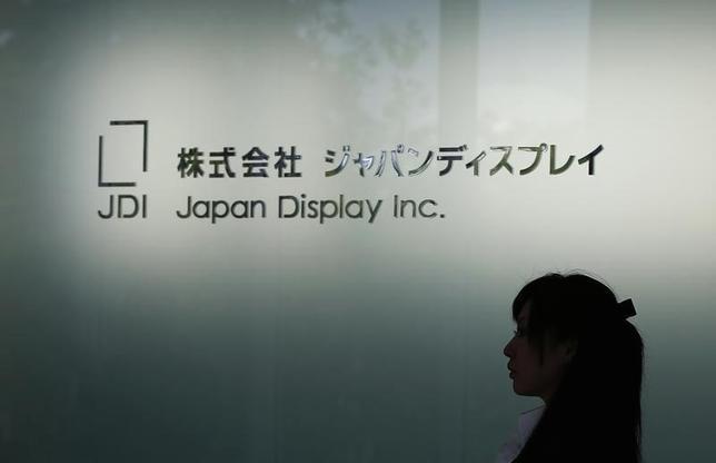 3月6日、ジャパンディスプレイは、石川県白山市に第6世代(G6)液晶新工場を建設すると発表した。写真はロゴ、千葉県茂原市で2013年6月撮影(2015年 ロイター/Toru Hanai)