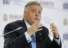 "Vladimir Yakunin, President of Russian Railways, speaks during the Gaidar Forum 2015 ""Russia and the World: New Dimensions"" in Moscow, January 15, 2015. REUTERS/Maxim Shemetov"