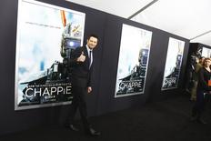"Actor Hugh Jackman arrives for the premiere of the film ""Chappie"" in New York March 4, 2015. REUTERS/Lucas Jackson"