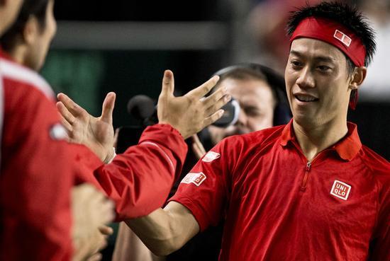 テニス=デビス杯で日本がカナダに敗れる、錦織はラオニッチ下す