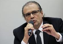 Ex-gerente executivo da diretoria de Serviços da Petrobras Pedro Barusco durante testemunho em Brasília.   10/03/2015 REUTERS/Ueslei Marcelino