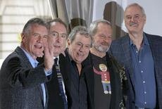 The surviving members of the original cast of the Monty Python comedy team (L-R) Michael Palin, Eric Idle, Terry Jones, Terry Gilliam and John Cleese, pose for photographers at a photocall in central London in this November 21, 2013 file photo.  REUTERS/Andrew Winning