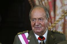 Spain's former King Juan Carlos attends a reception marking Spain's Armed Forces Day at the Royal palace in Madrid in this file June 8, 2014 photo. REUTERS/Andrea Comas/Pool