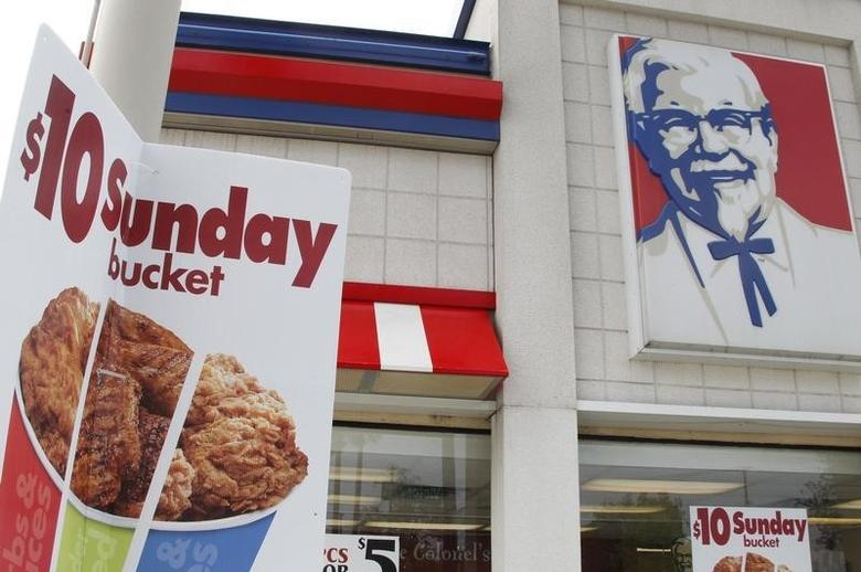 A KFC restaurant is pictured in Burbank, California April 19, 2011. REUTERS/Fred Prouser/Files
