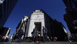 """Una sucursal del banco Citibank en Buenos Aires, ago 20 2014. Argentina será """"inflexible"""" con las entidades financieras que violen leyes locales tras una decisión del juez estadounidense Thomas Griesa que traba pagos de bonos soberanos a través de Citigroup, dijo el Gobierno el viernes.   REUTERS/Marcos Brindicci"""