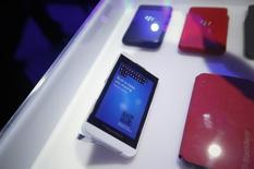 Research in Motion's (RIM) new Blackberry 10 devices are seen after their launch in New York January 30, 2013.  REUTERS/Shannon Stapleton