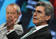 Joe Kaeser, chief executive of German industrial group Siemens, speaks during the Egypt Economic Development Conference (EEDC) in Sharm el-Sheikh, in the South Sinai governorate, south of Cairo, March 14, 2015.  REUTERS/Amr Abdallah Dalsh