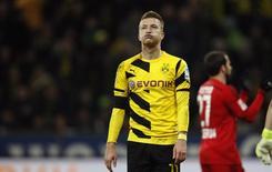 Marco Reus, do Borussia Dortmund, um dos clubes eliminados da Liga dos Campeões.  31/01/2015  REUTERS/Ina Fassbender