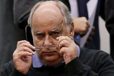 Renato Duque, ex-diretor da Petrobras, na CPI da Petrobras. 19/03/2015 REUTERS/Ueslei Marcelino