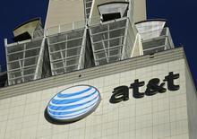 An AT&T building is pictured in Los Angeles , California May 13, 2014.  REUTERS/Mike Blake