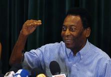 Pelé concede entrevista coletiva em São Paulo, em dezembro do ano passado. 09/12/2014 REUTERS/Paulo Whitaker
