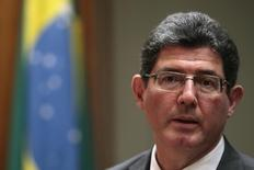 Ministro da Fazenda, Joaquim Levy, durante entrevista coletiva em Brasília.  27/02/2015   REUTERS/Ueslei Marcelino