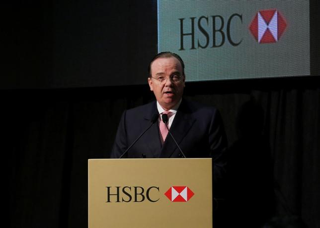 HSBC Group CEO Stuart Gulliver speaks during a ceremony launching a commemorative 150th anniversary banknote in Hong Kong March 4, 2015.   REUTERS/Bobby Yip