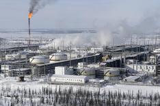 Вид на Ванкорское нефтяное месторождение в Красноярском крае. 25 марта 2015 года. Цены на нефть выросли почти на 4 процента после начала военной операции Саудовской Аравии и ее союзников в Йемене. REUTERS/Sergei Karpukhin