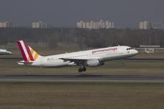 Aeronave Airbus A320 da Germanwings, mesmo modelo da envolvida no acidente. 29/03/2014   REUTERS/Jan Seba