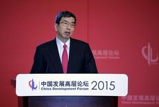 Asian Development Bank (ADB) President Takehiko Nakao delivers a speech at China Development Forum, in Beijing March 22, 2015. REUTERS/Jason Lee
