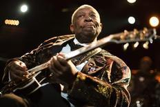 Guitarrista norte-americano B.B. King se apresenta em Montreux em 2011. 02/07/2011. 02/07/2011 REUTERS/Valentin Flauraud