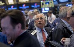 La Bourse de New York a fini en légère hausse mercredi, le Dow Jones gagnant 0,15%, le S&P-500 prenant 0,27%, et le Nasdaq avançant de 0,83%. /Photo d'archives/REUTERS/Brendan McDermid