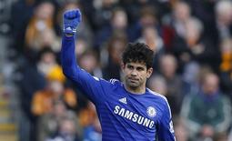 Diego Costa em partida do Chelsea no Campeonato Inglês contra o Hull City. 22/03/2015 REUTERS/Andrew Yates