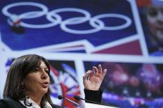 Paris city mayor Anne Hidalgo delivers a speech during the presentation of the feasibility study for a potential bid for the 2024 Olympic and Paralympic Games in Paris, at the Paris city hall, February 12, 2015. REUTERS/Gonzalo Fuentes